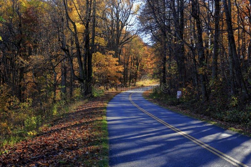 Ridge Parkway azul, Virginia imagen de archivo libre de regalías