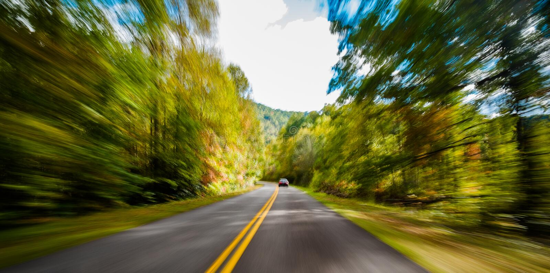 Ridge Parkway bleu photo libre de droits