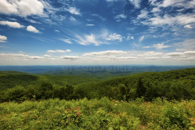 Ridge Parkway National Park azul imagem de stock royalty free