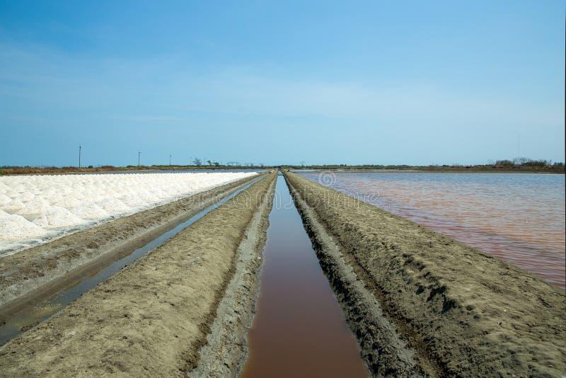 Saline, Salt mining, Naklua in Thailand stock photography