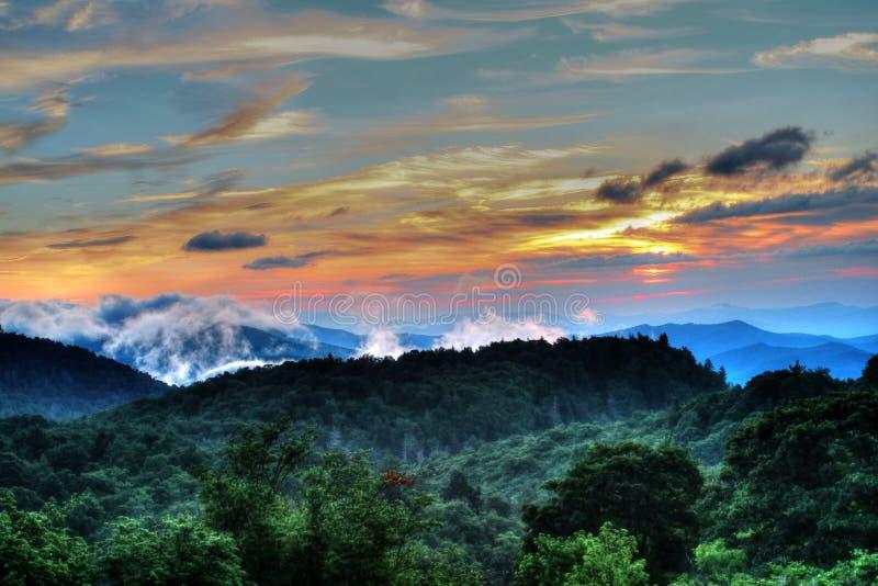 Ridge Smoky Mountain bleu photographie stock libre de droits
