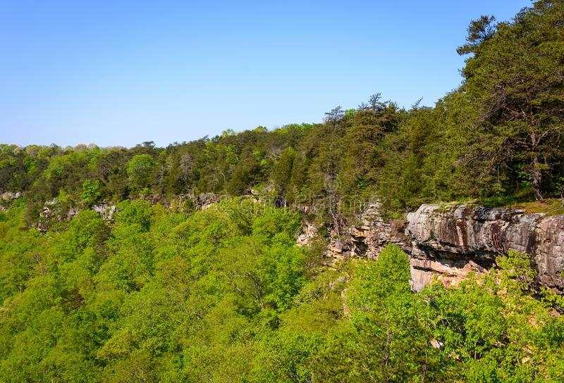 Ridged Cliffs at Little River Canyon National Preserve royalty free stock photo