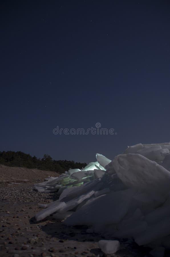 Ridged is och Karlavagnen royaltyfria foton