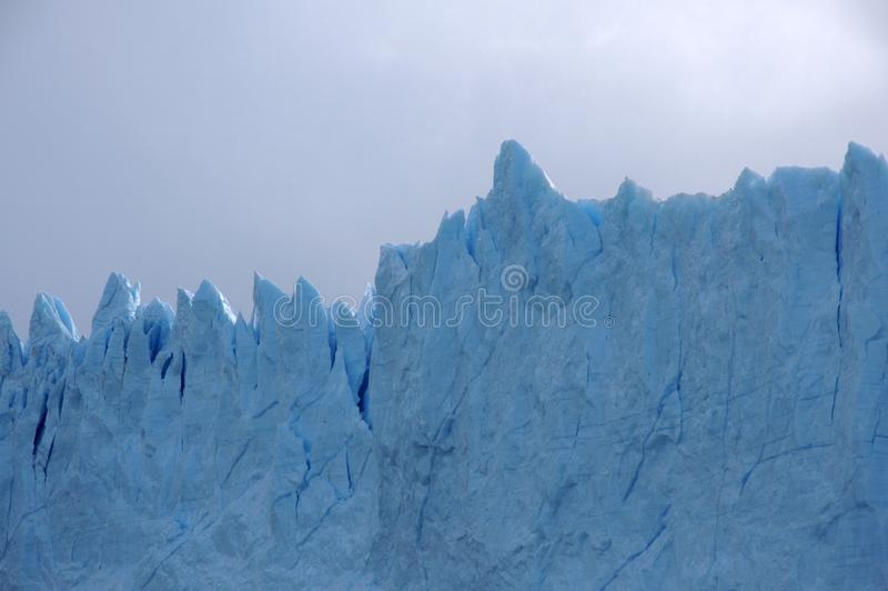 Ridges of the glacier royalty free stock photography
