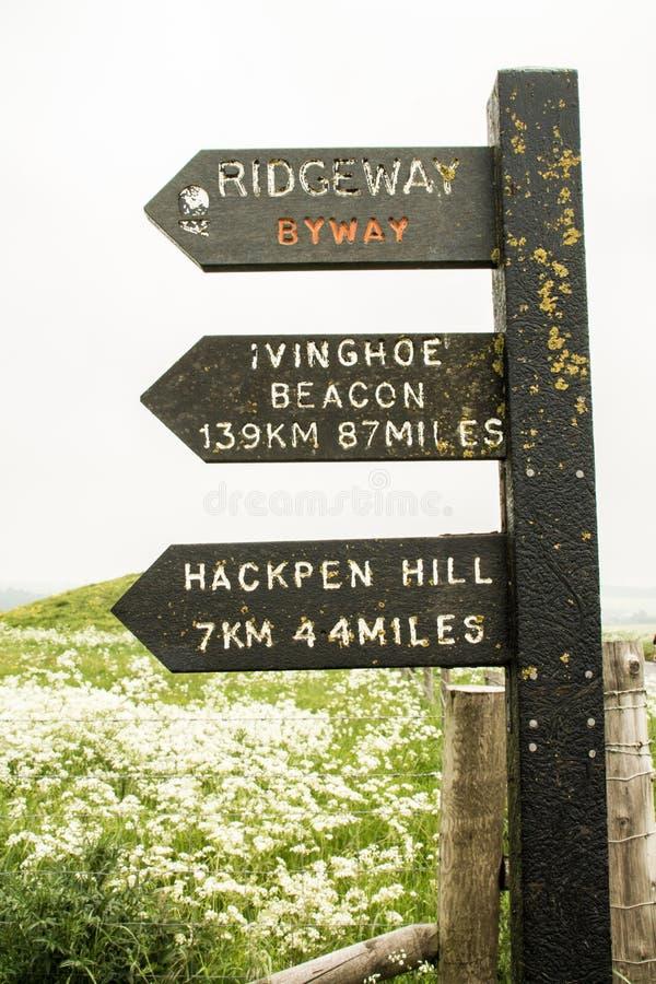 Ridgeway National Trail Reino Unido fotografía de archivo