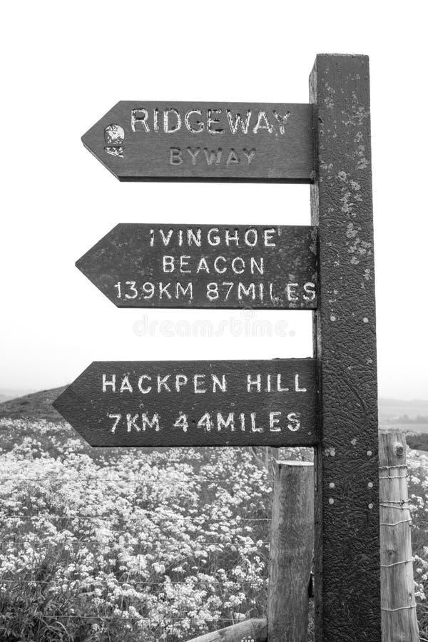 Ridgeway National Trail Reino Unido imagem de stock royalty free