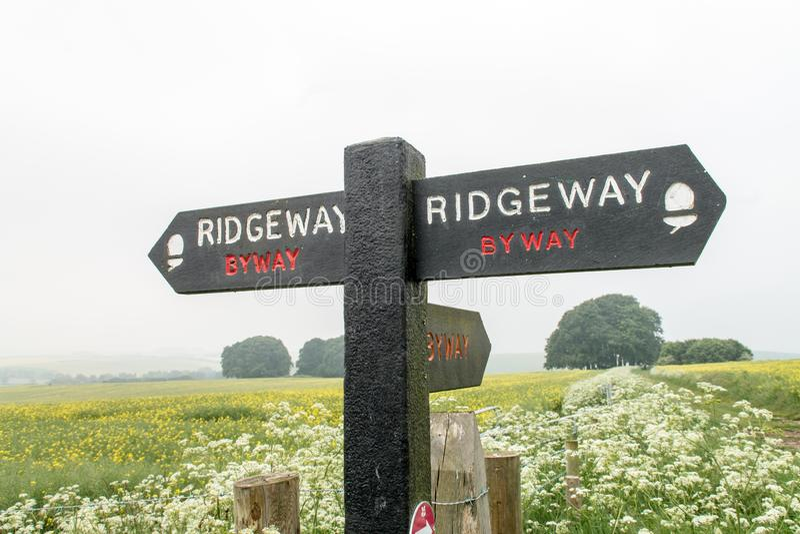 Ridgeway National Trail Reino Unido fotografia de stock royalty free
