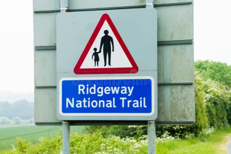 Ridgeway National Trail Reino Unido imagens de stock
