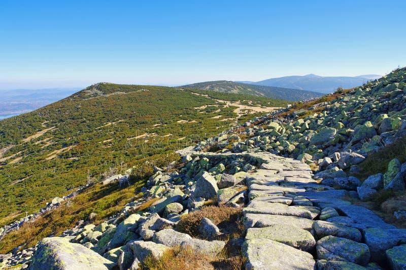 Ridgeway w Gigantycznych górach obrazy stock