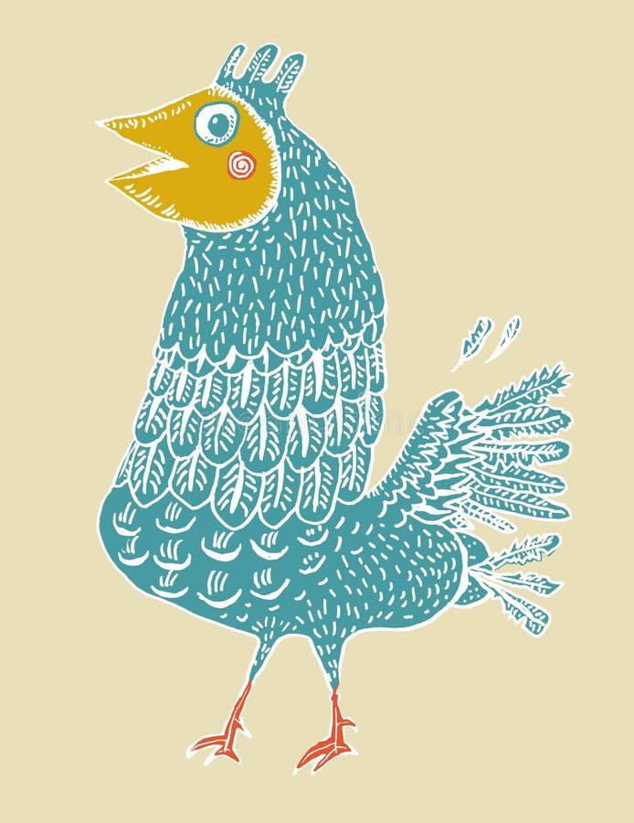 Ridiculous Birdie (vector) Royalty Free Stock Photos