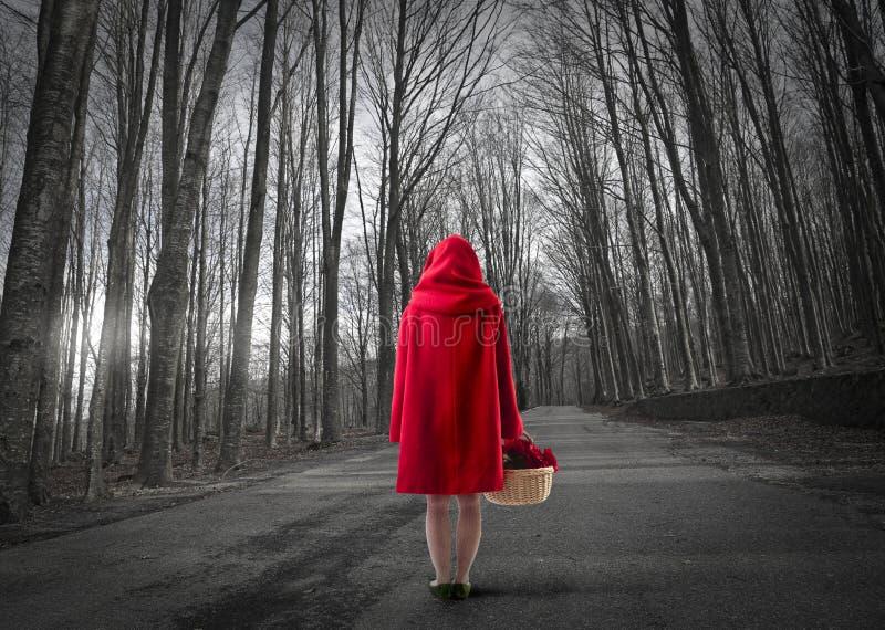 riding клобука красный стоковая фотография rf