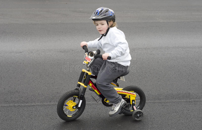 Riding Bicycle stock images