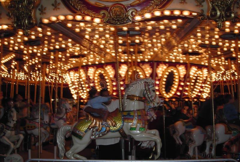 Riding The Carousel Stock Photos