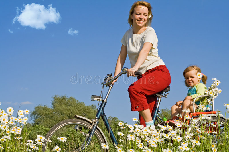 Riding on the countryside with a bike royalty free stock photo