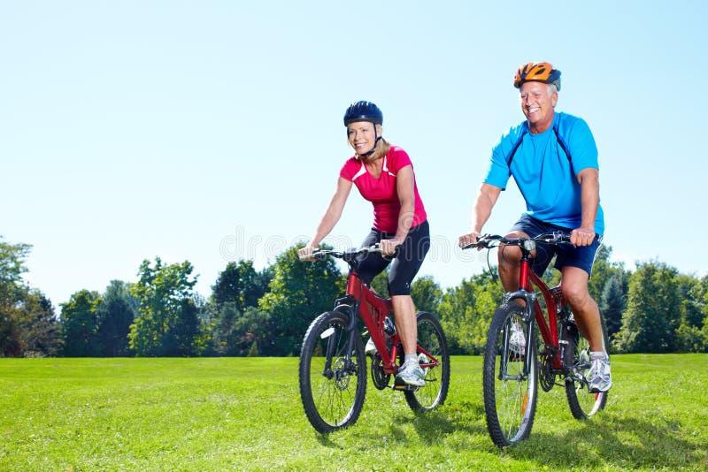 Riding couple. stock photo