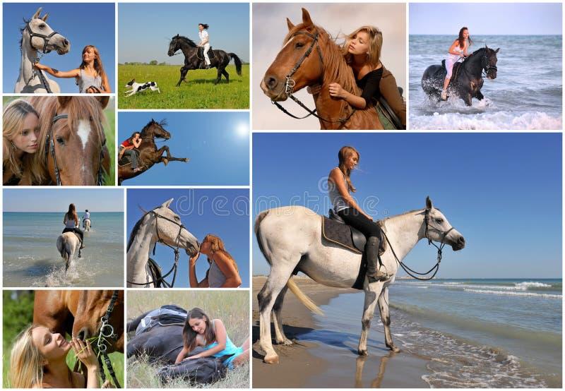Riding girl stock photos