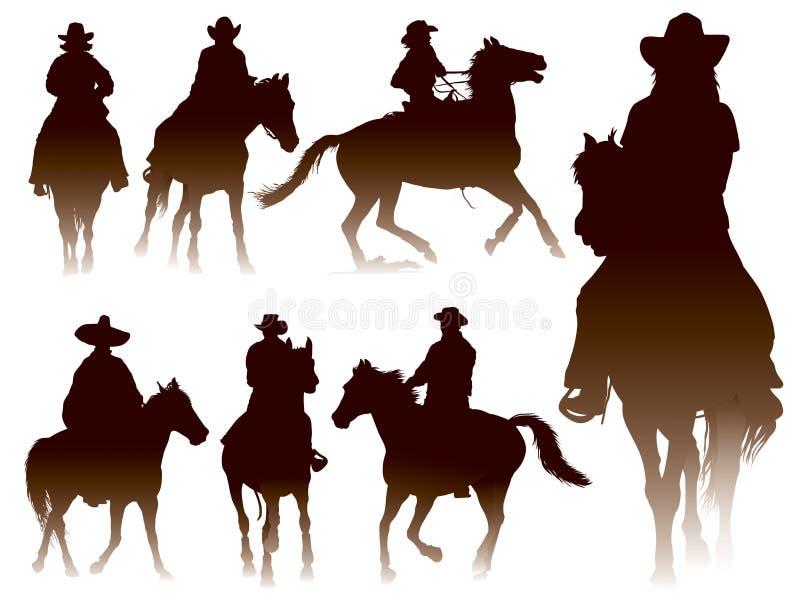 riding horseback иллюстрация штока