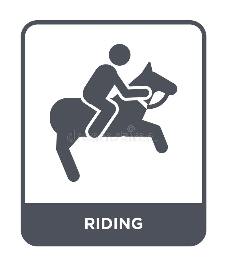 riding icon in trendy design style. riding icon isolated on white background. riding vector icon simple and modern flat symbol for stock illustration