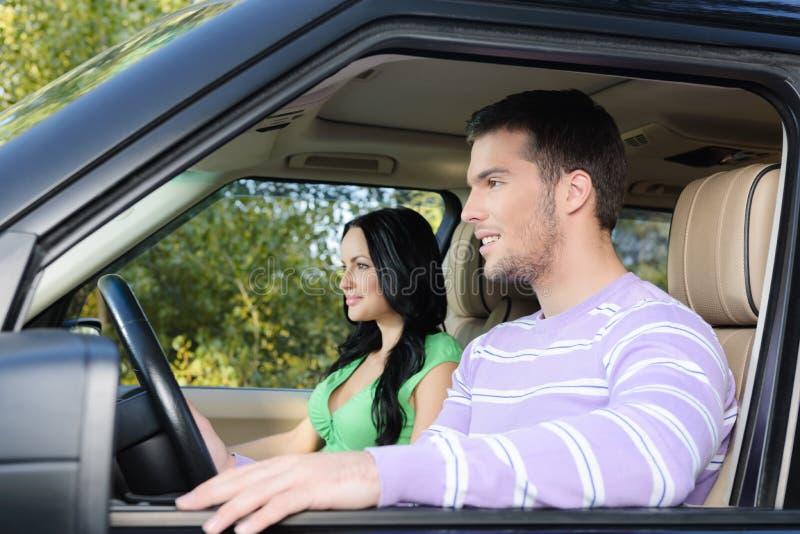 Riding with pleasure royalty free stock photos