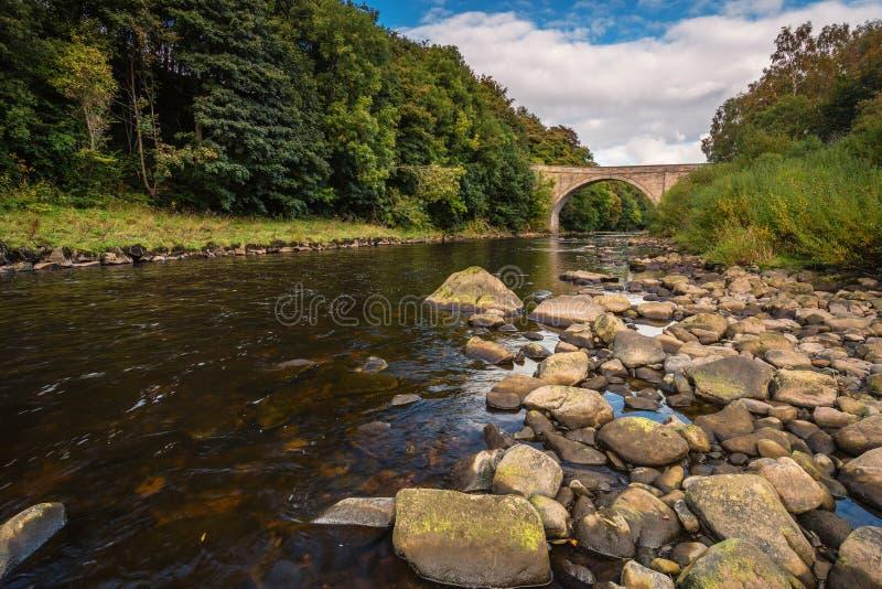 Ridley Bridge over Rivierzuiden de Tyne stock afbeelding