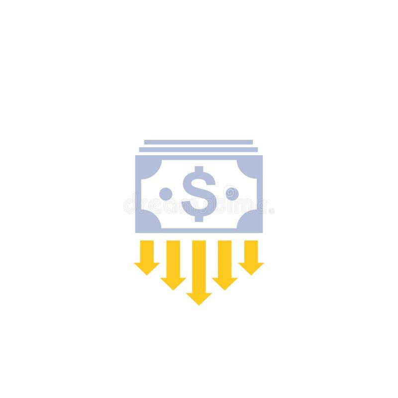 Riduca i costi, spesa illustrazione di stock