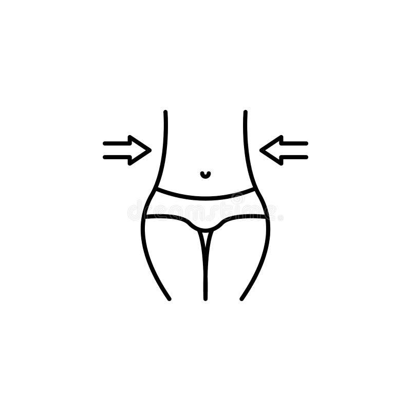 riduca l'icona del profilo Elementi dell'icona dell'illustrazione di nutrizione e di dieta Segni ed icona per i siti Web, web des illustrazione vettoriale