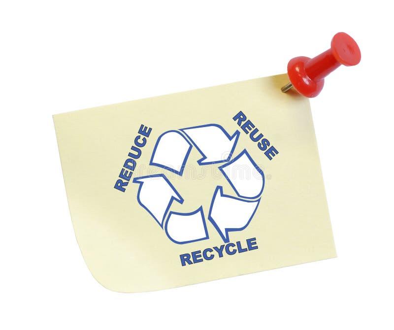 Riduca la riutilizzazione riciclano fotografie stock
