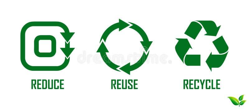 Riduca la riutilizzazione riciclano il concetto illustrazione vettoriale