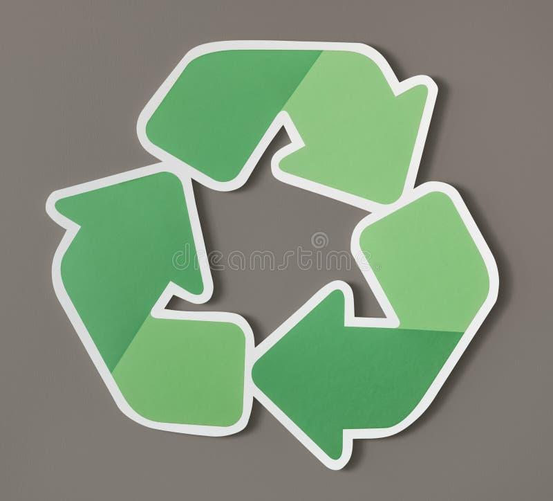 Riduca la riutilizzazione riciclano l'icona di simbolo illustrazione vettoriale