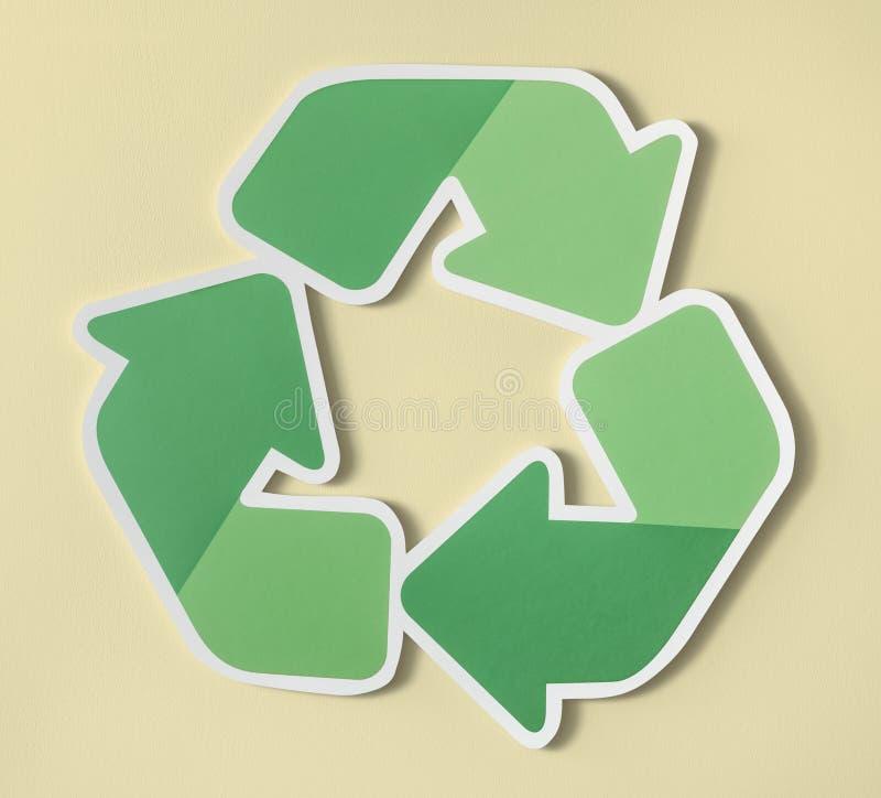 Riduca la riutilizzazione riciclano l'icona di simbolo fotografie stock libere da diritti
