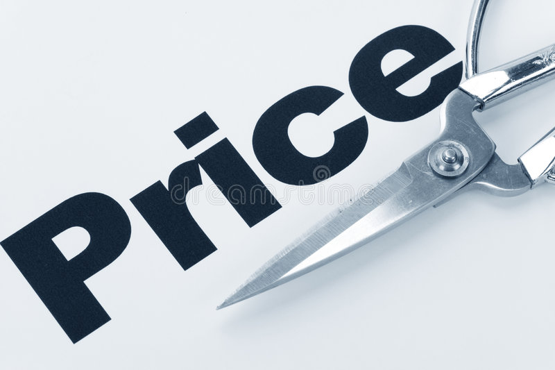 Riduzione dei prezzi fotografia stock