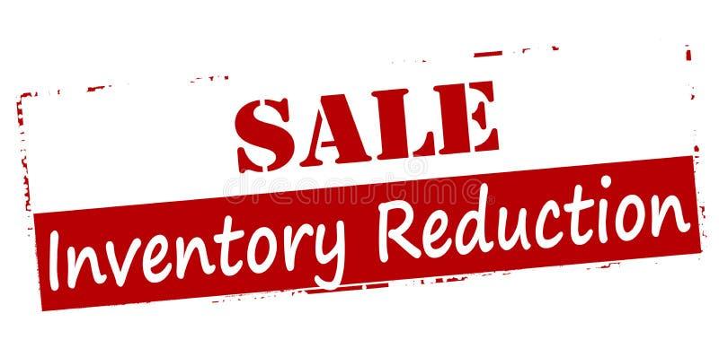 Riduzione di inventario di vendita illustrazione vettoriale