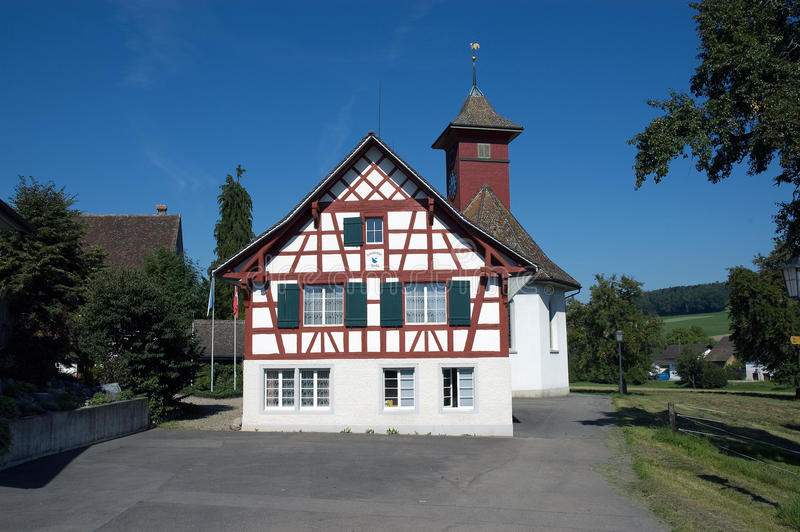 Riegelhaus in Switzerland royalty free stock photography