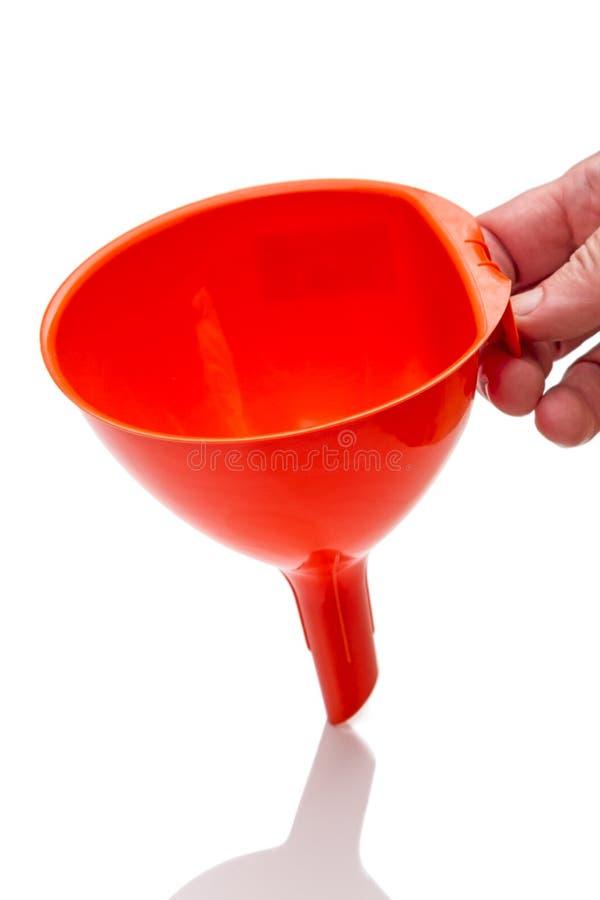 Riego anaranjado del embudo de la cocina fotos de archivo libres de regalías