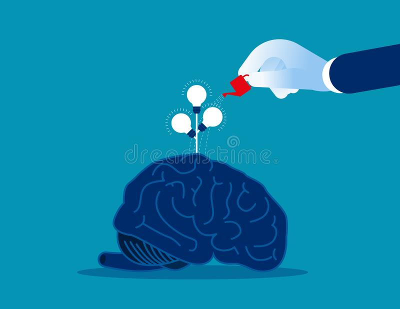 Riego de las ideas del encargado Ejemplo del vector del negocio del concepto ilustración del vector