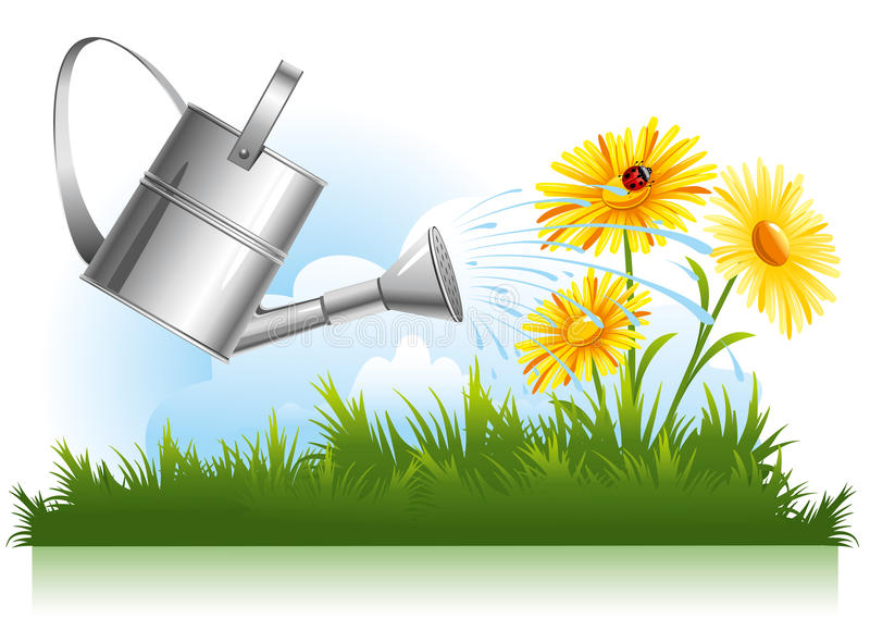 Riego del jardín libre illustration