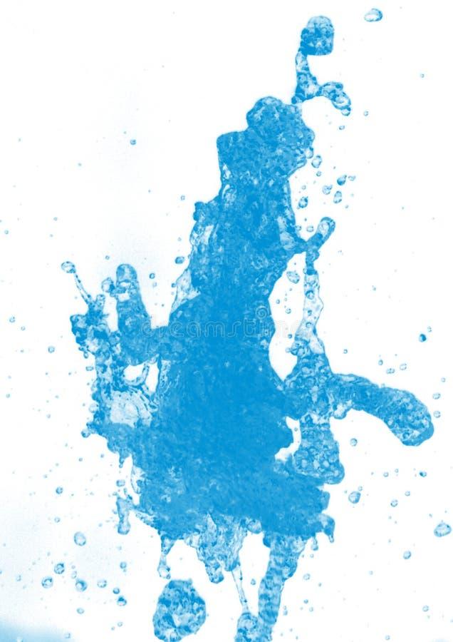 Riegue el chapoteo en el fondo blanco con la ondulaci?n y la reflexi?n - Imagen libre illustration
