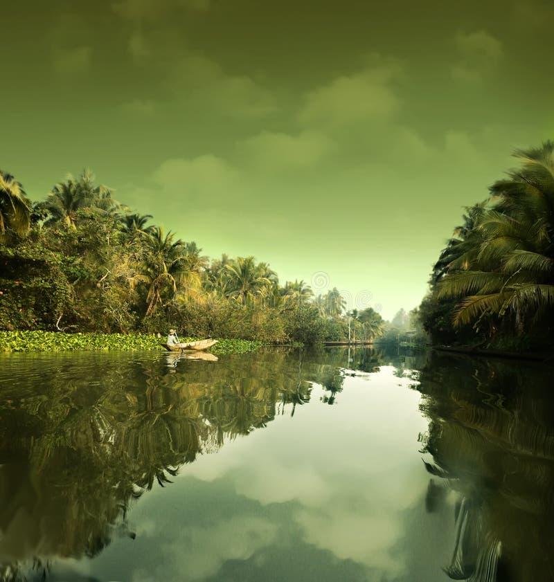 Riegue el paisaje. Tailandia foto de archivo libre de regalías