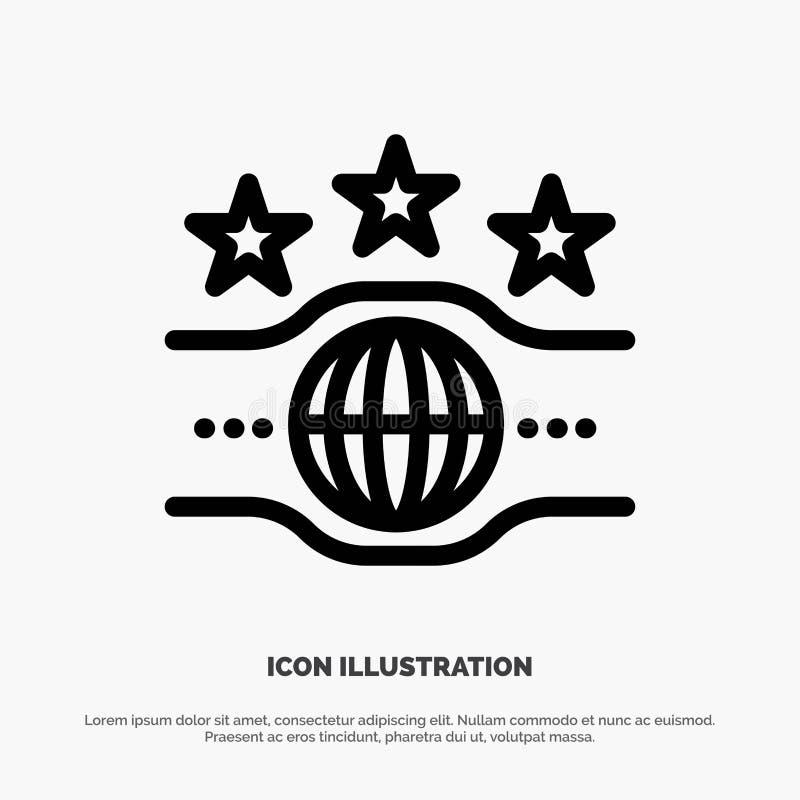 Riem, Kampioen, Kampioenschap, het Pictogramvector van de Sportlijn royalty-vrije illustratie