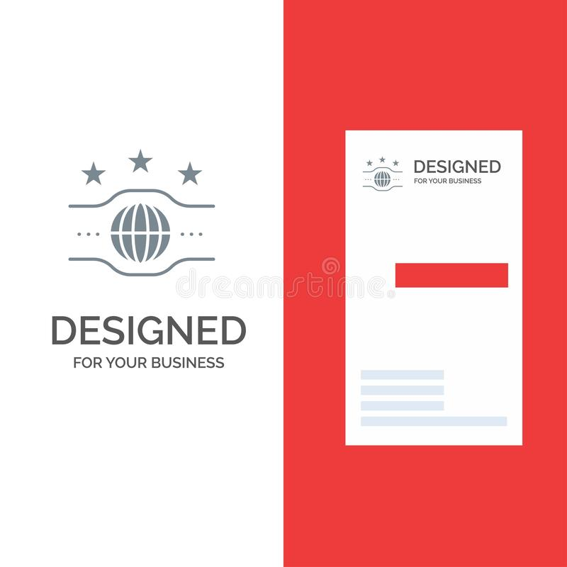 Riem, Kampioen, Kampioenschap, Sport Grey Logo Design en Visitekaartjemalplaatje vector illustratie