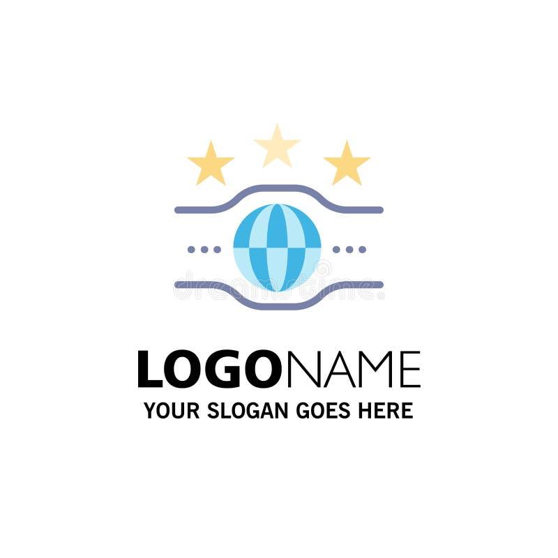 Riem, Kampioen, Kampioenschap, Sportzaken Logo Template vlakke kleur vector illustratie