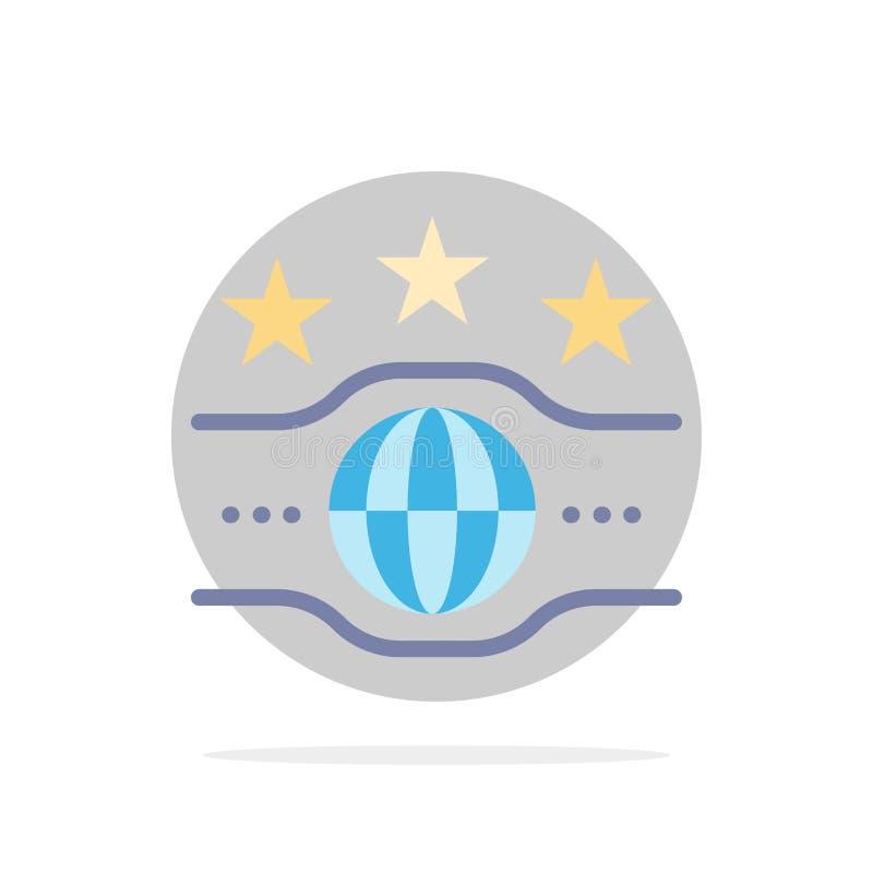 Riem, Kampioen, Kampioenschap, van de Achtergrond sport Abstract Cirkel Vlak kleurenpictogram vector illustratie