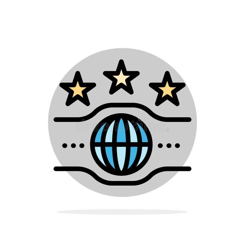 Riem, Kampioen, Kampioenschap, van de Achtergrond sport Abstract Cirkel Vlak kleurenpictogram stock illustratie