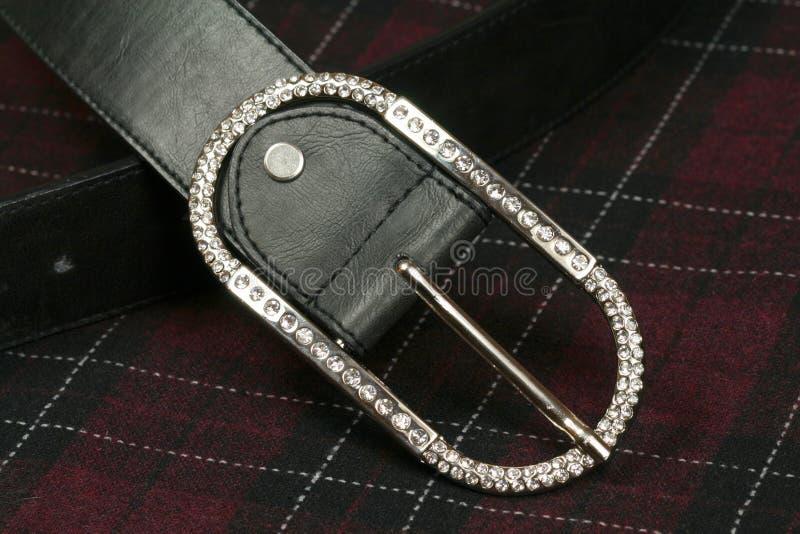 Riem met diamantgesp royalty-vrije stock afbeeldingen