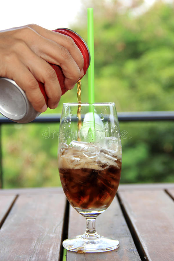 Download Riense cola to glass stock photo. Image of riense, brown - 36651014