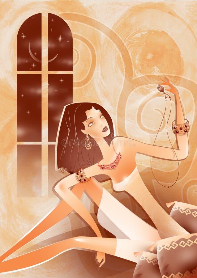 Free Оriental Woman Admires Jewelry Royalty Free Stock Image - 11161736