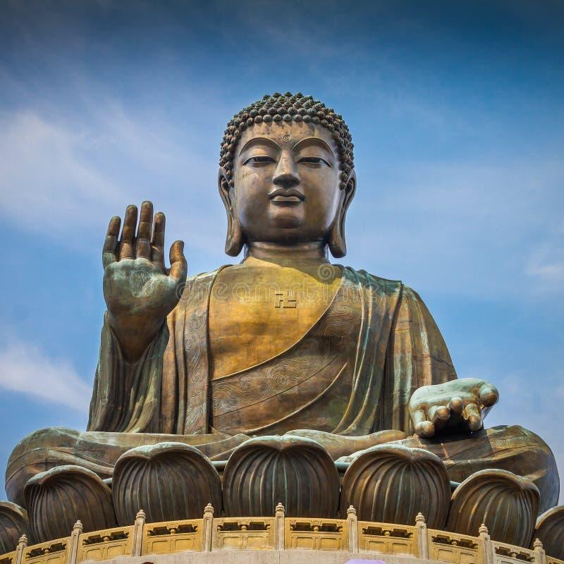 Riese-Buddha-Statue in Tian Tan lizenzfreie stockbilder