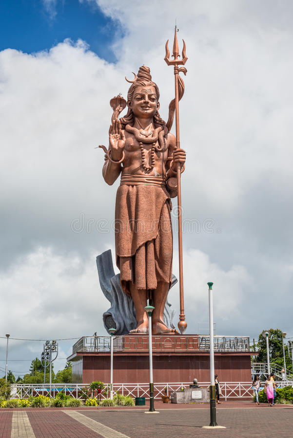 Riese Shiva-Statue am großartigen Bassin See, Mauritius stockbild
