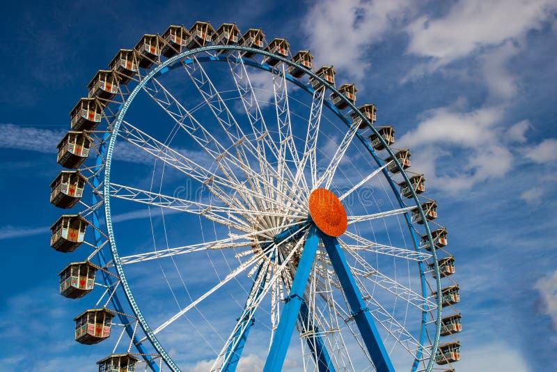 Riesenrad Riesenrad auf dem Oktoberfest in München/Deutschland wi lizenzfreies stockfoto