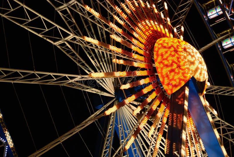 Riesenradnacht lizenzfreies stockfoto